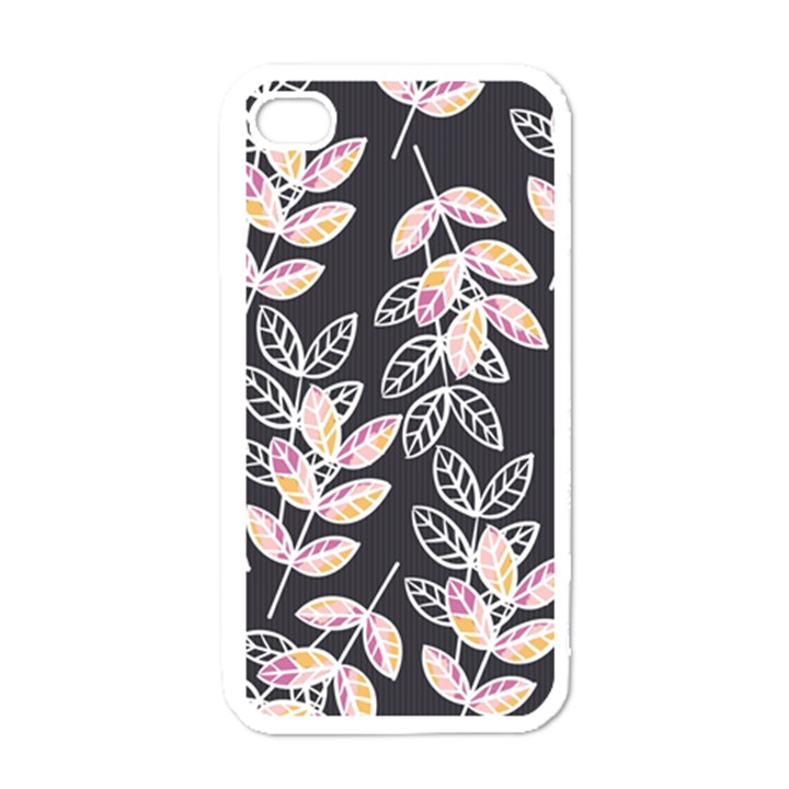 Winter Beautiful Foliage  Apple iPhone 4 Case (White)