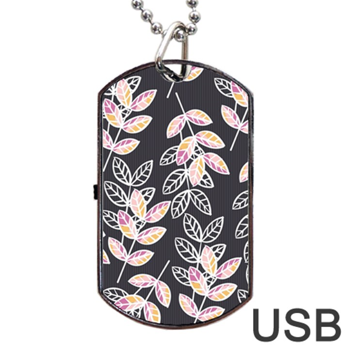 Winter Beautiful Foliage  Dog Tag USB Flash (Two Sides)