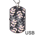 Winter Beautiful Foliage  Dog Tag USB Flash (Two Sides)  Back