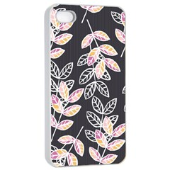 Winter Beautiful Foliage  Apple iPhone 4/4s Seamless Case (White)