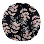 Winter Beautiful Foliage  Large 18  Premium Round Cushions Back