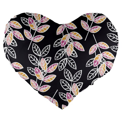 Winter Beautiful Foliage  Large 19  Premium Heart Shape Cushions