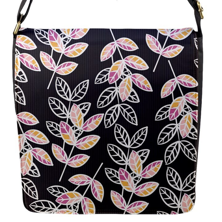 Winter Beautiful Foliage  Flap Messenger Bag (S)