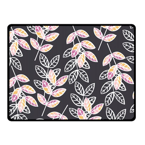 Winter Beautiful Foliage  Double Sided Fleece Blanket (Small)