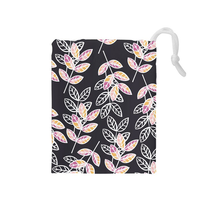 Winter Beautiful Foliage  Drawstring Pouches (Medium)