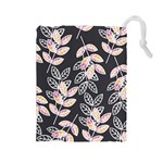 Winter Beautiful Foliage  Drawstring Pouches (Large)  Front