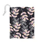 Winter Beautiful Foliage  Drawstring Pouches (Large)  Back