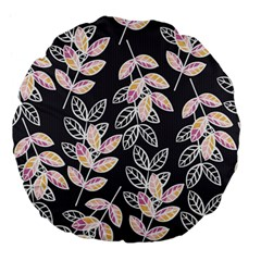 Winter Beautiful Foliage  Large 18  Premium Flano Round Cushions