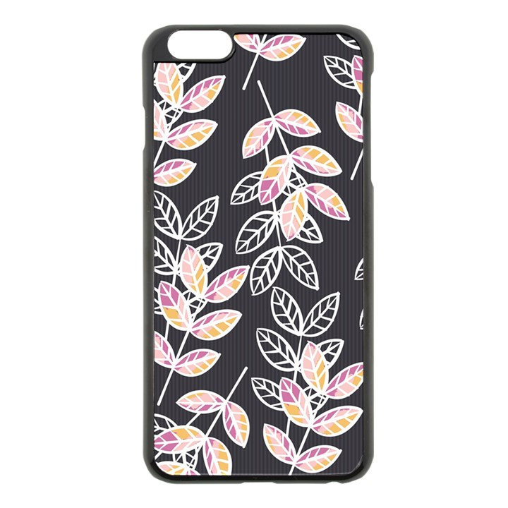 Winter Beautiful Foliage  Apple iPhone 6 Plus/6S Plus Black Enamel Case