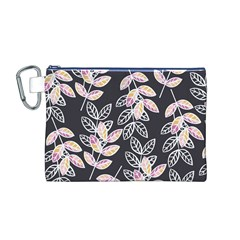 Winter Beautiful Foliage  Canvas Cosmetic Bag (m)