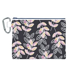 Winter Beautiful Foliage  Canvas Cosmetic Bag (L)