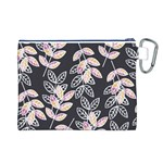 Winter Beautiful Foliage  Canvas Cosmetic Bag (L) Back