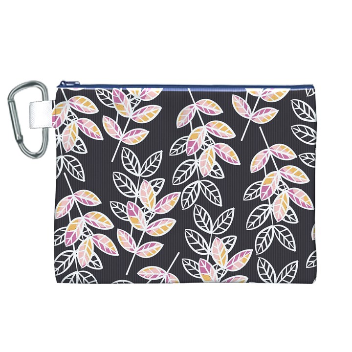 Winter Beautiful Foliage  Canvas Cosmetic Bag (XL)