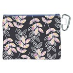 Winter Beautiful Foliage  Canvas Cosmetic Bag (XXL) Back