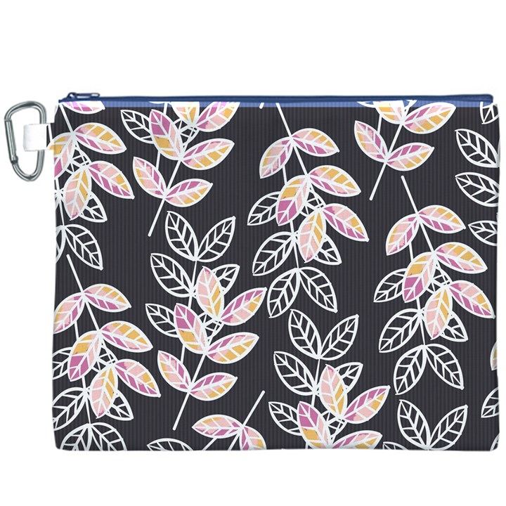 Winter Beautiful Foliage  Canvas Cosmetic Bag (XXXL)
