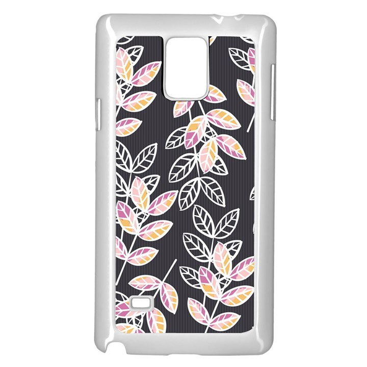 Winter Beautiful Foliage  Samsung Galaxy Note 4 Case (White)