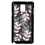 Winter Beautiful Foliage  Samsung Galaxy Note 4 Case (Black) Front