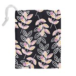 Winter Beautiful Foliage  Drawstring Pouches (Extra Large) Back