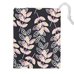 Winter Beautiful Foliage  Drawstring Pouches (XXL) Front