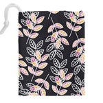 Winter Beautiful Foliage  Drawstring Pouches (XXL) Back