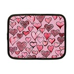 Artistic Valentine Hearts Netbook Case (Small)  Front