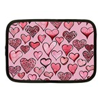 Artistic Valentine Hearts Netbook Case (Medium)  Front