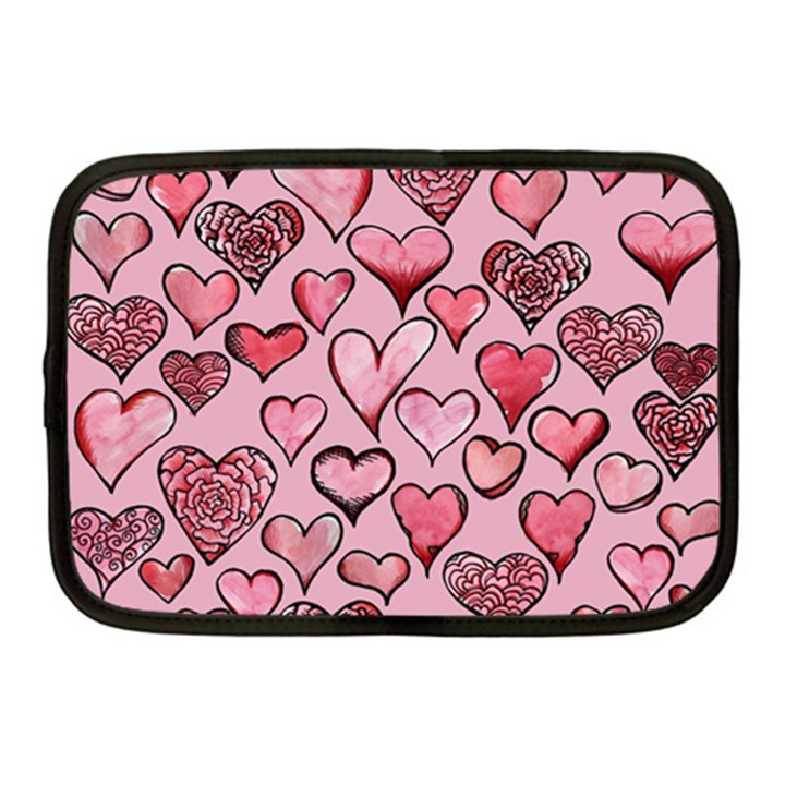 Artistic Valentine Hearts Netbook Case (Medium)