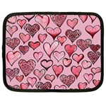Artistic Valentine Hearts Netbook Case (Large) Front