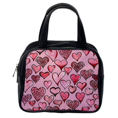 Artistic Valentine Hearts Classic Handbags (One Side)