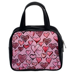 Artistic Valentine Hearts Classic Handbags (2 Sides)