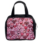 Artistic Valentine Hearts Classic Handbags (2 Sides) Front