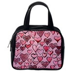Artistic Valentine Hearts Classic Handbags (2 Sides) Back