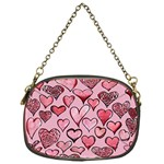 Artistic Valentine Hearts Chain Purses (One Side)  Front