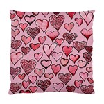 Artistic Valentine Hearts Standard Cushion Case (Two Sides) Front