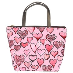 Artistic Valentine Hearts Bucket Bags