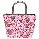 Artistic Valentine Hearts Bucket Bags Front