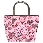 Artistic Valentine Hearts Bucket Bags Back