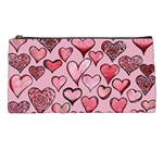 Artistic Valentine Hearts Pencil Cases Front