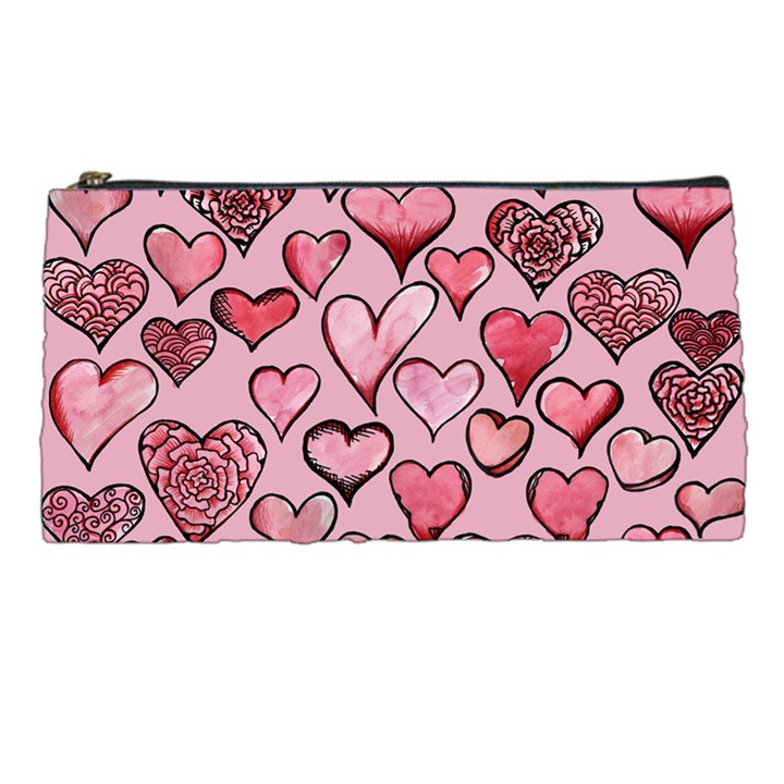 Artistic Valentine Hearts Pencil Cases