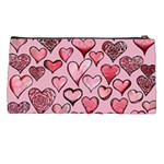 Artistic Valentine Hearts Pencil Cases Back