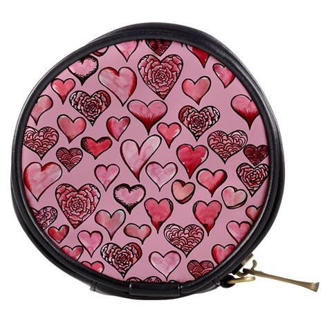Artistic Valentine Hearts Mini Makeup Bags