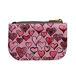Artistic Valentine Hearts Mini Coin Purses Back