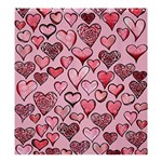 Artistic Valentine Hearts Shower Curtain 66  x 72  (Large)  58.75 x64.8 Curtain