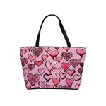 Artistic Valentine Hearts Shoulder Handbags Front