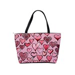Artistic Valentine Hearts Shoulder Handbags Back