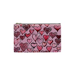 Artistic Valentine Hearts Cosmetic Bag (small)