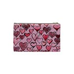 Artistic Valentine Hearts Cosmetic Bag (Small)  Back