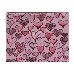 Artistic Valentine Hearts Cosmetic Bag (XL)