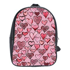 Artistic Valentine Hearts School Bags(Large)