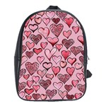 Artistic Valentine Hearts School Bags(Large)  Front